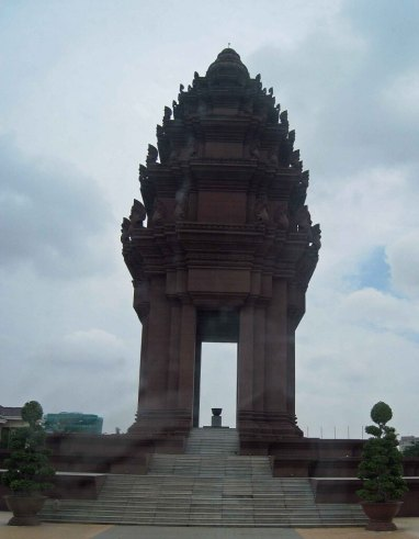 Independence Monument city sights Phnom Penh Cambodia
