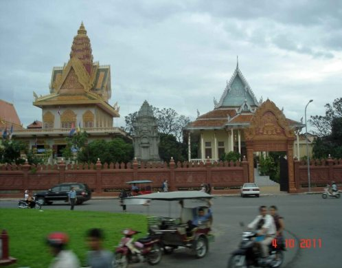 Wat Ounalom seat of Buddhism in Cambodia. Phnom Penh City
