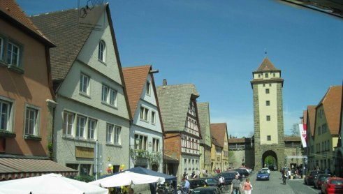 View as we enter Rothenburg