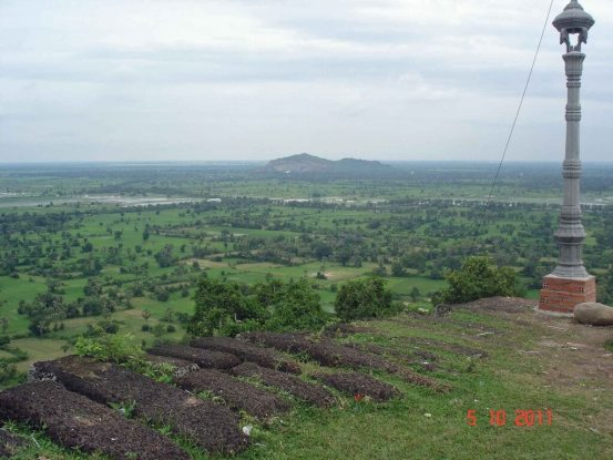 Cambodia-panoramic view-from Chisor Mountain - Temple of Phnom Chisor
