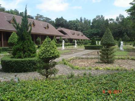 Self-contained bungalows in a secluded area-pristine green gardens