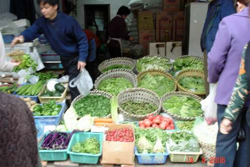 Beautiful-fresh-greens-and-veggies - Markets Chinese Old Quarter