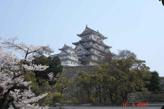 View from outside the walls Himeji castle