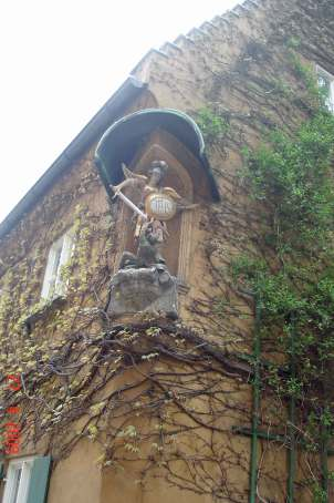 Statue of archangel Michael - Fuggerei