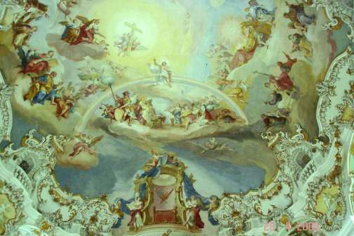 Wieskirche - detail of ceiling fresco