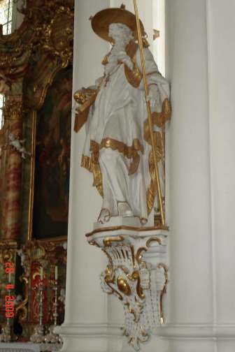 Wies Church - statue of Saint Jerome