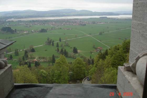 Countryside view from Neuschwanstein Castle