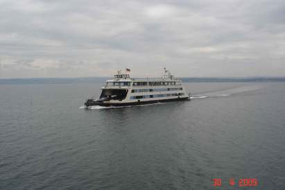 Car Ferry-Lake Constance from towns of - Meersburg to Konstanz