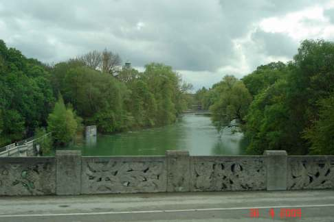 Sightseeing - Iser River Munich-romantic road Germany