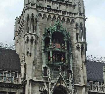 Bavarian Glockenspiel main tower Romantic Road