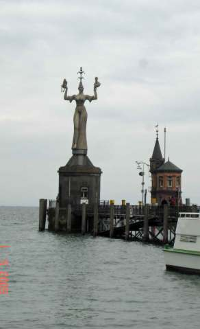 Statue of Imperia at Harbor Entrance Kinstanz-romantic road Germany