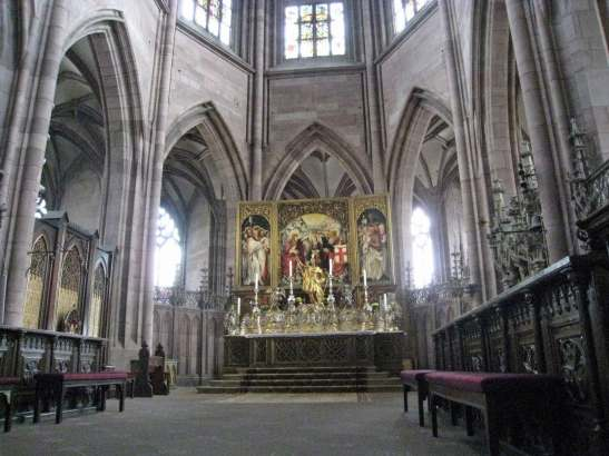 Interior view - Freiburg Minster-Romantic road Germany