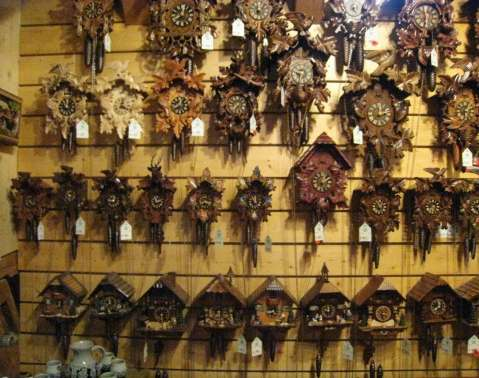 Town of Triberg Cuckoo clocks-black forest-Romantic road Germany