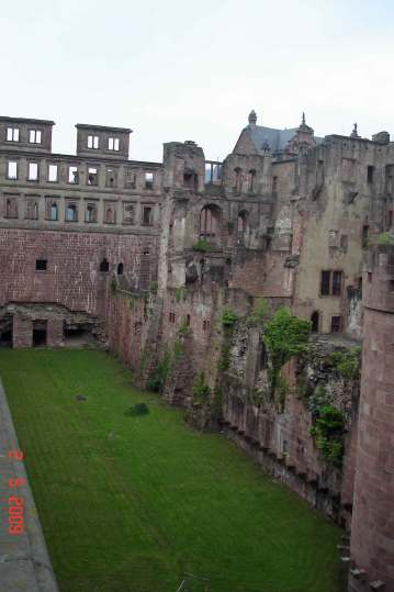 Ruins of the Artillery Garden at Heidelberg castle