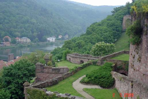 Ruins of Heidelberg castle's terraced gardens-Heidelberg