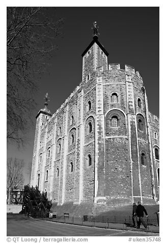 Black And White Picture Photo White Tower Inside The