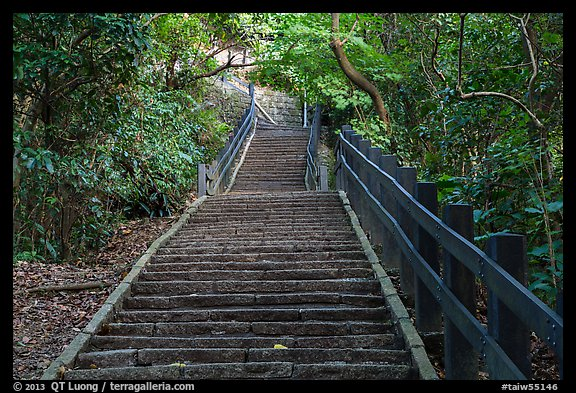 Black Home Wallpaper Picture Photo Stairs Leading Up Elephant Mountain Taipei