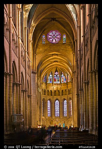 PicturePhoto Gothic interior of Saint Jean Cathedral Lyon France