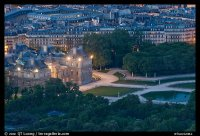 Picture/Photo: Aerial night view of Jardin du Luxembourg ...