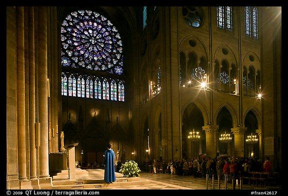 Picture Photo Catholic Mass Celebration Paris France
