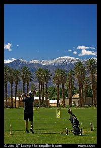 Picture/Photo: Golfer in Furnace Creek Golf course. Death ...
