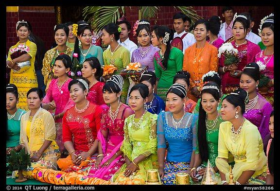 PicturePhoto Women Pose During Novitiation Ceremony