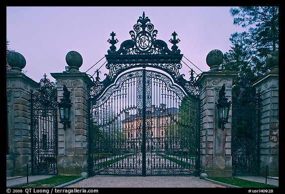 PicturePhoto Entrance gate of the Breakers mansion at