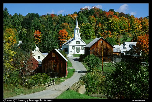 Burke Vt Fall Wallpaper Picture Photo Waits River Village Vermont New England Usa