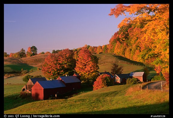 Wallpaper Fall Farmhouse Picture Photo Jenne Farm Sunrise Vermont New England Usa