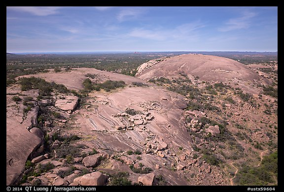 PicturePhoto Aerial view of Enchanted Rock granite domes