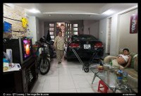 Picture/Photo: Living room used as car and motorbike ...