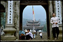 One of the numerous sanctuaries on the trail. Perfume Pagoda near Hanoi, Vietnam