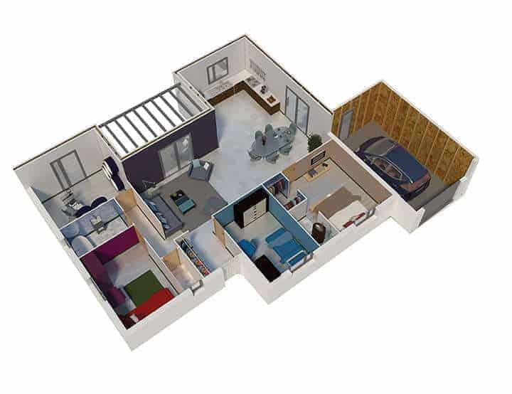 plan de maison en u notre selection