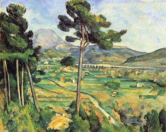 """""""Montagne Sainte-Victoire, von Bellevue aus  gesehen"""" by Paul Cézanne"""