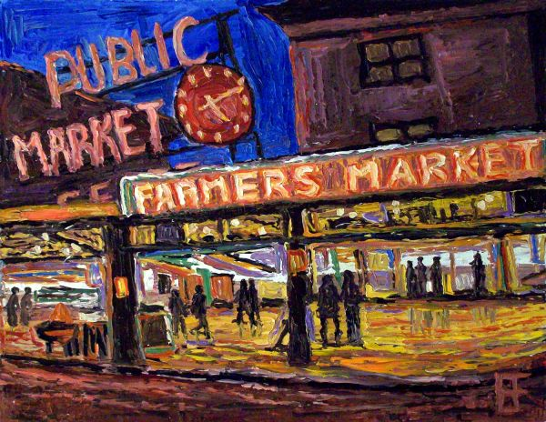 Seattle Public Market Paintings