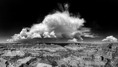 Grand Canyon and Storm Clouds, Arizona, 2013