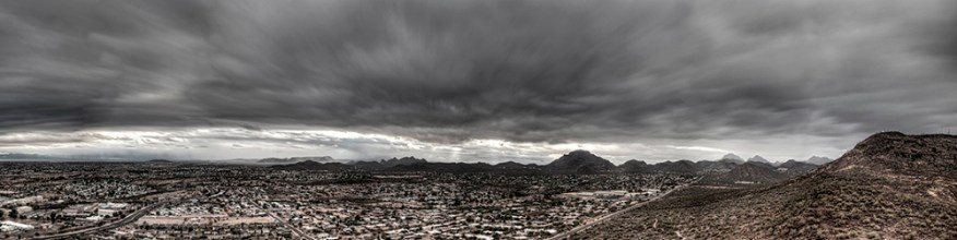 Storm Clouds from A Mountain, Tucson, Arizona, 2012