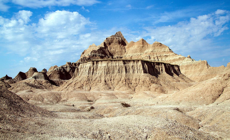 Hills in Badlands National Park
