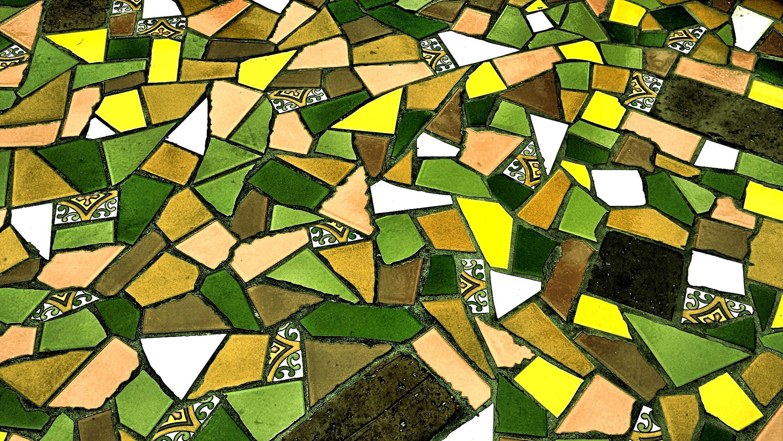 Green and yellow mosaic