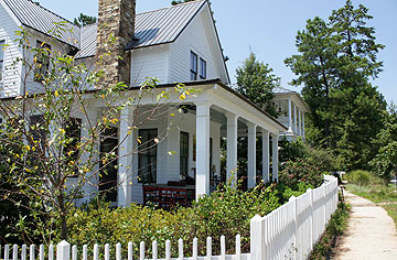Traditional farmhouse-style home