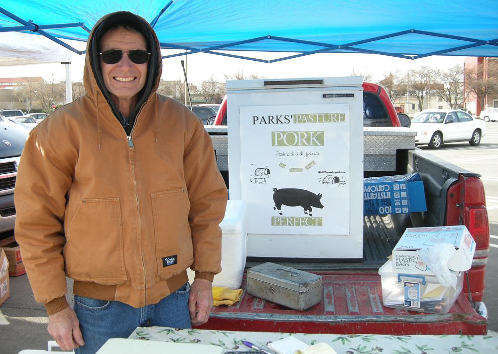 At the farmers' market: Parks Pasture Pork