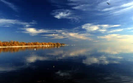 The Salton Sea in reflection