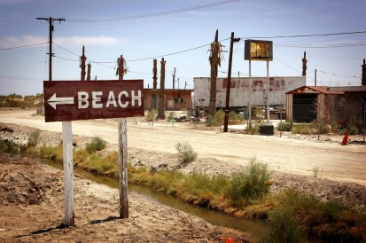 Salton City BEACH sign