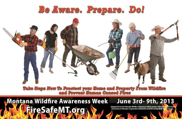 Wildfire prevention poster