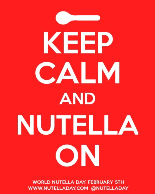 Keep Calm and Nutella On.