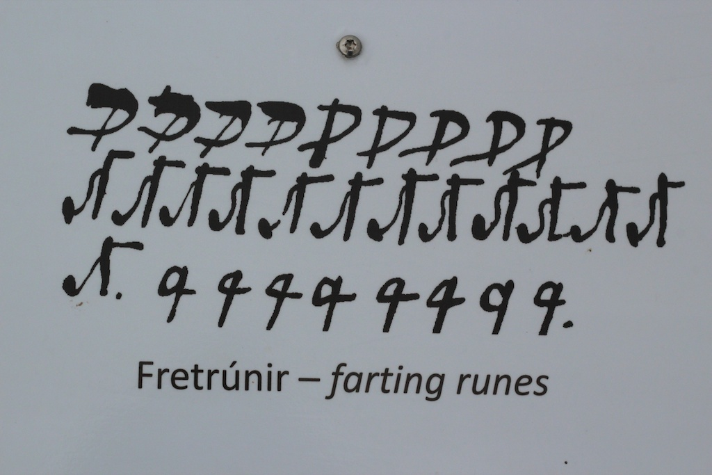 The farting rune. The Museum of Sorcery & Witchcraft, Hólmavík, Westfjords