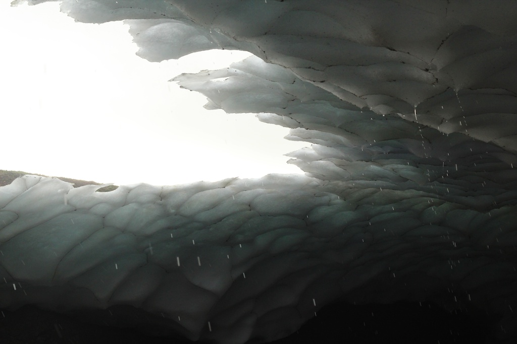 ceiling of the ice mass, Westfjords