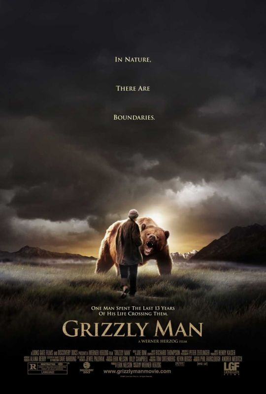 Grizzly Man theatrical release poster, courtesy Lions Gate Films.