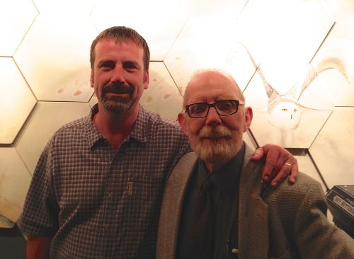 Derek Sheffield and Ivan Doig in Leavenworth, Washington, April 2014. Photo by Gabi Sheffield.