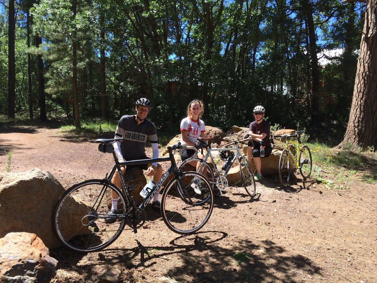 Ride with my family in Flagstaff